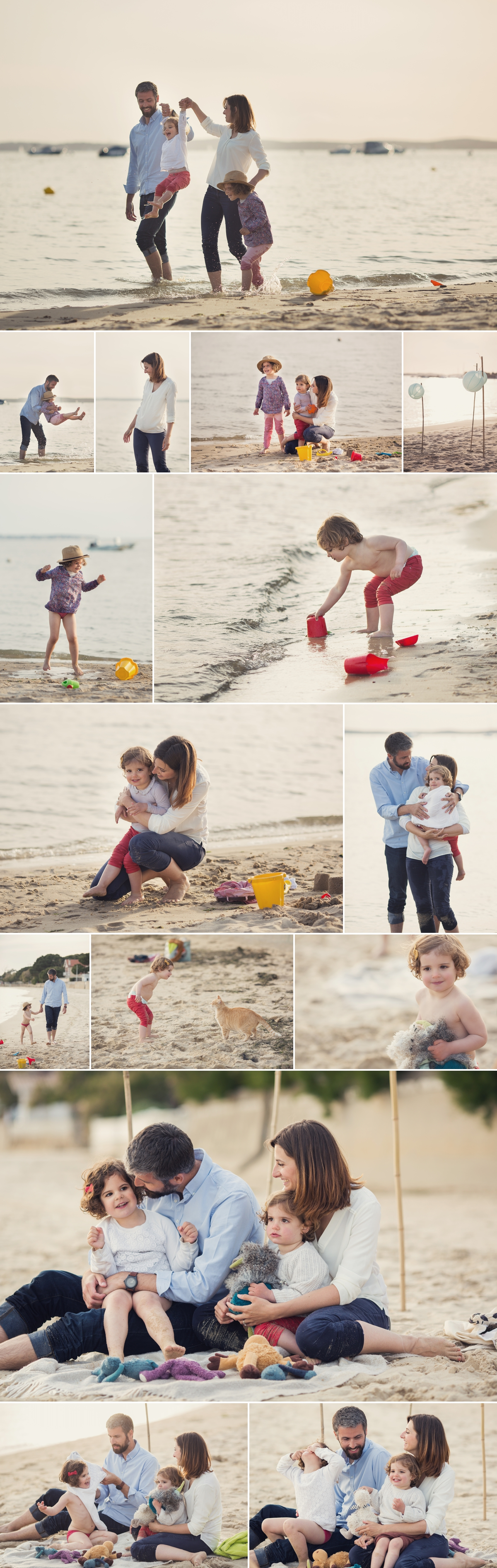 séance famille à la plage, mer