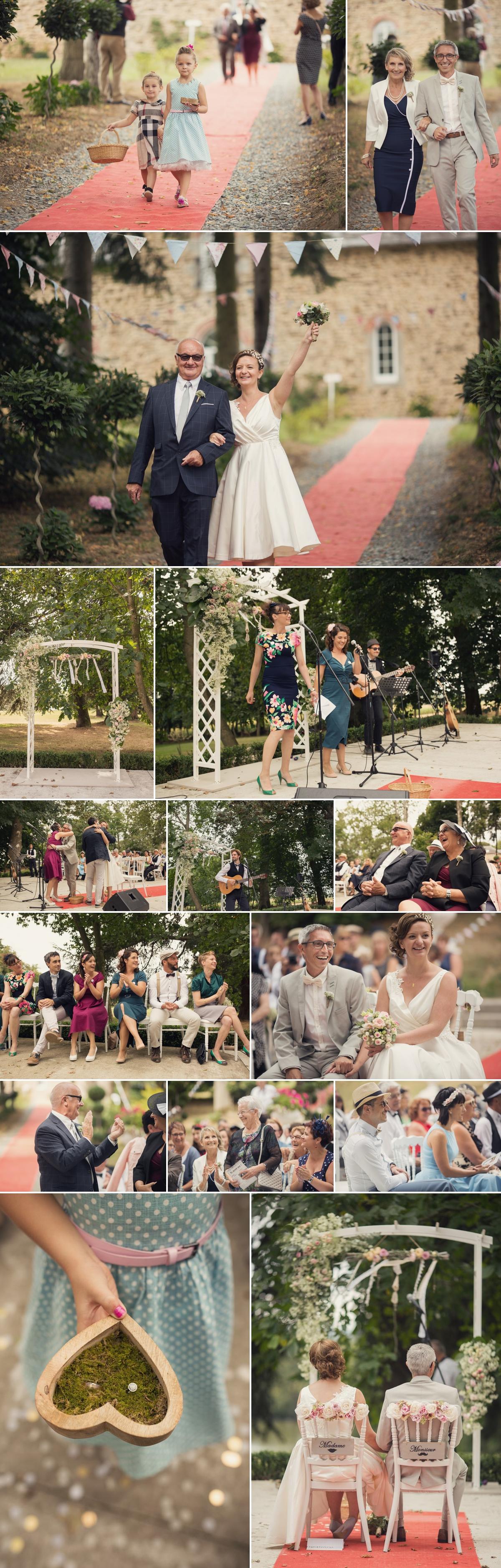 Mariage rétro au château de Fontenaille