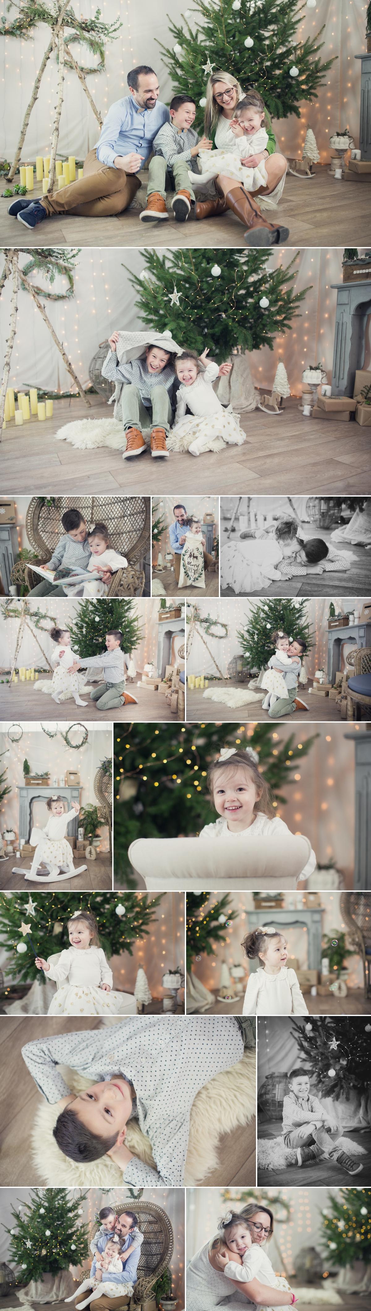 séance famille à Noël