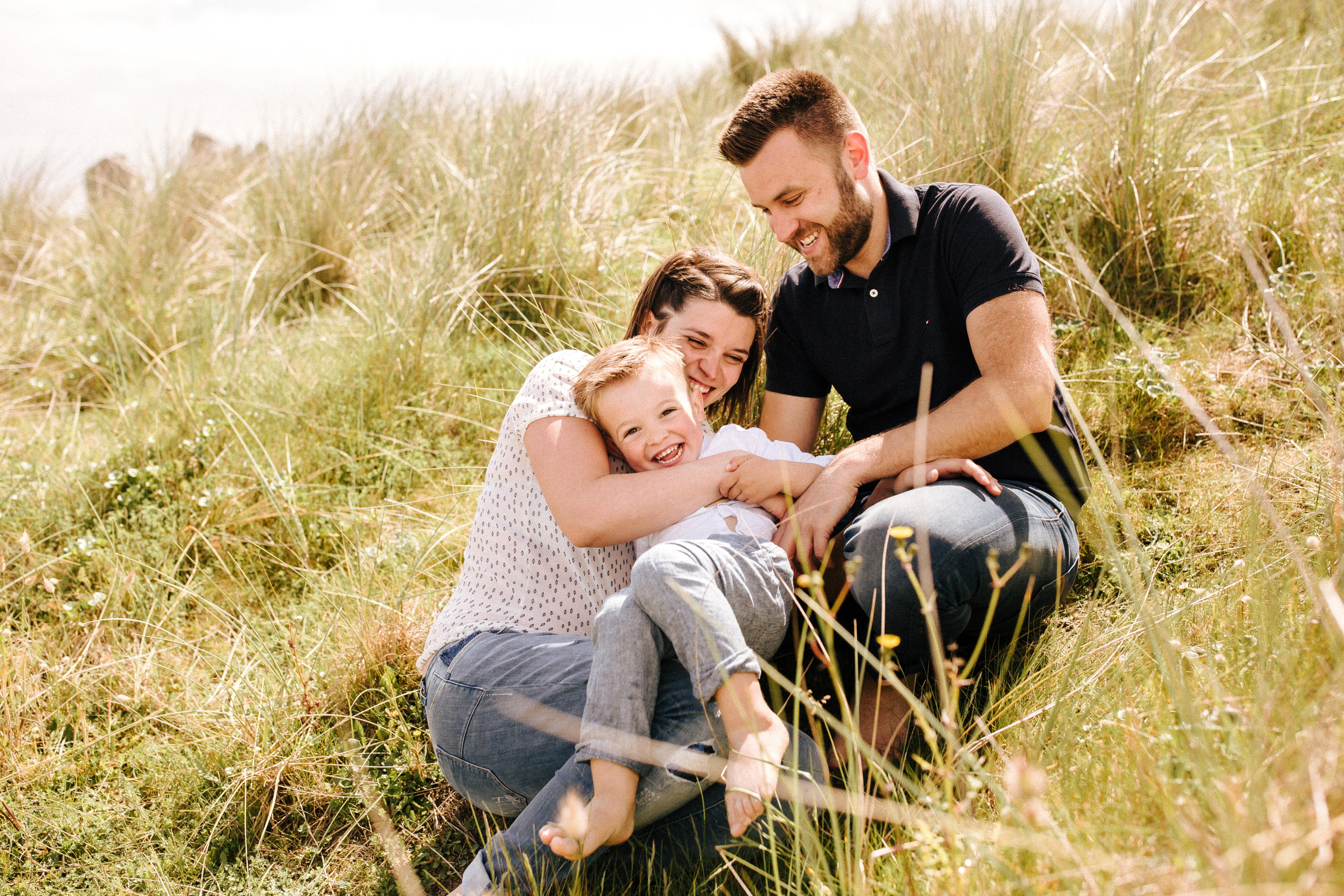 une séance famille au Finistère