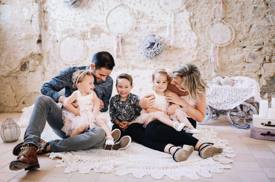 Séance famille à La Roë