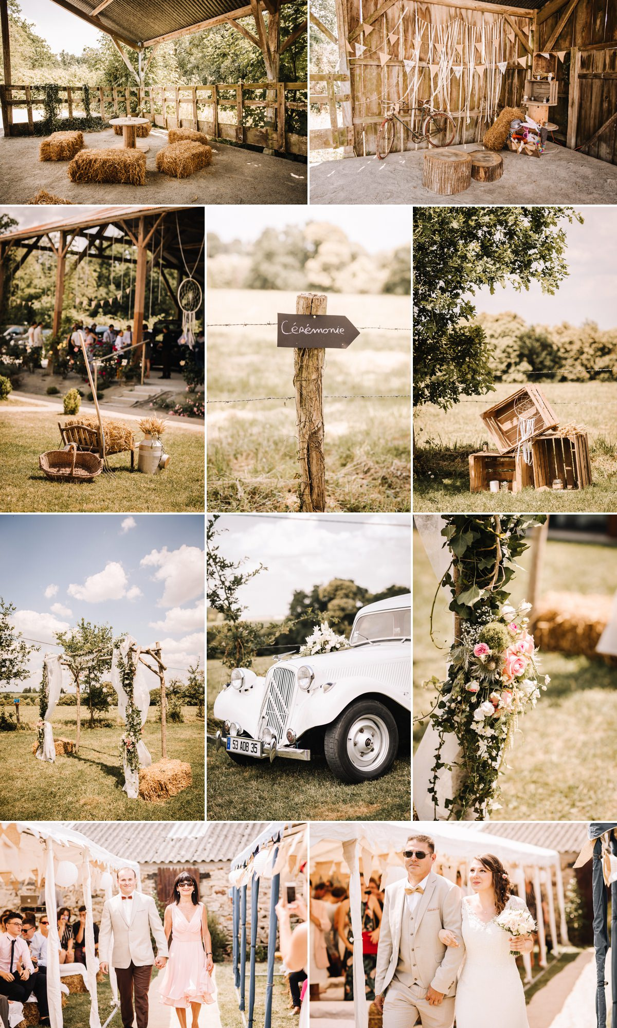 mariage champêtre en Bretagne