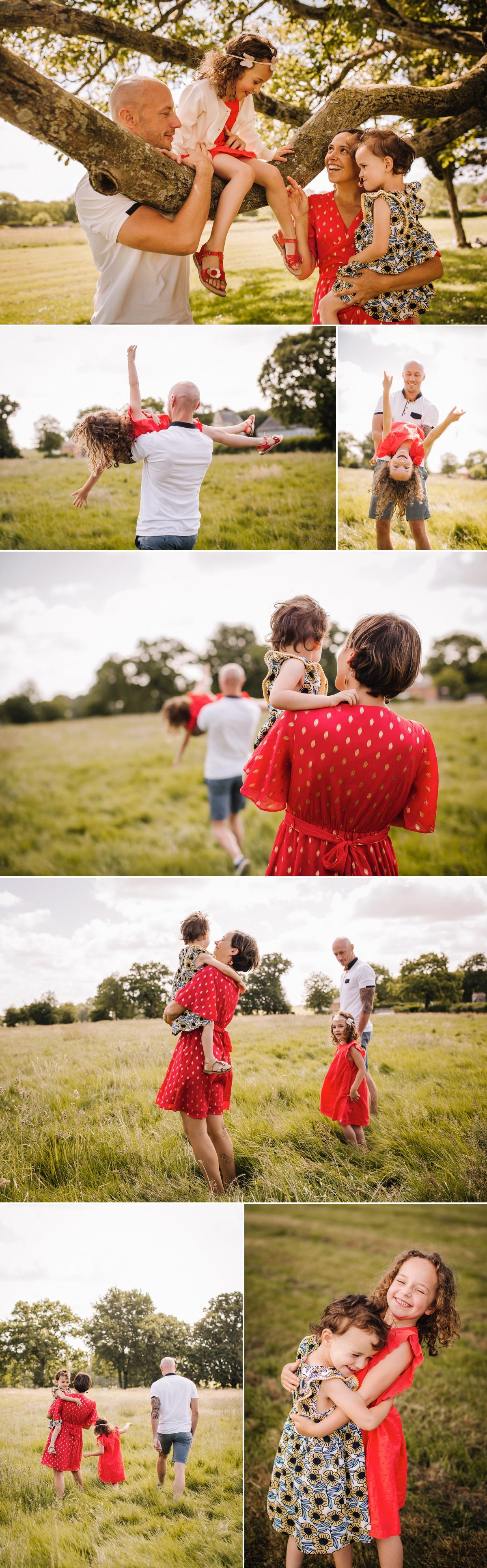 Séance famille en plein air